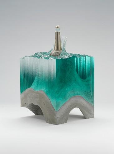 Il 'vetro liquido' nelle sculture di by Ben Young